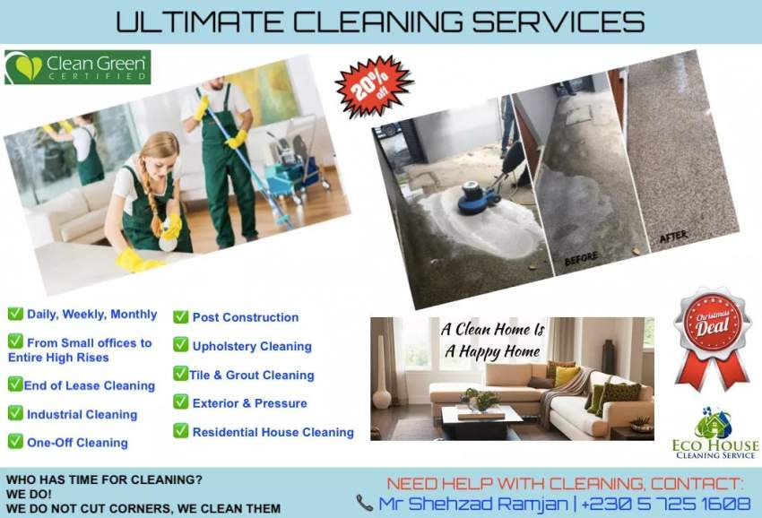Cleaning for offices house villas