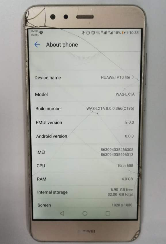 Huawei p10 lite Gold for sale