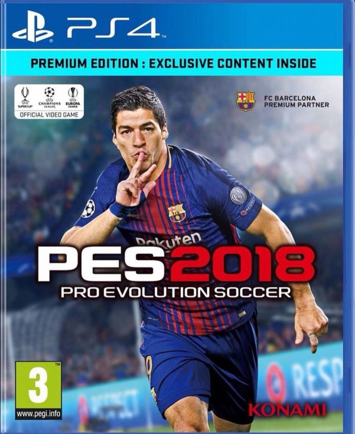 Pro Evolution Soccer 2018 - Internationally released on 12.09.2017. Available in Mauritius. Original price Rs 2400. Discount Rs 500 for initial release. - PlayStation 4 Games at AsterVender