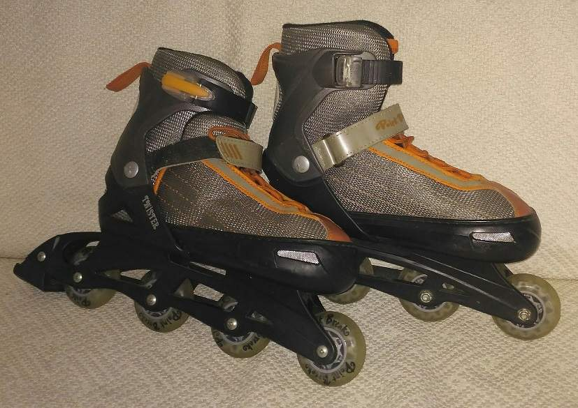 Teenager in-line roller skates