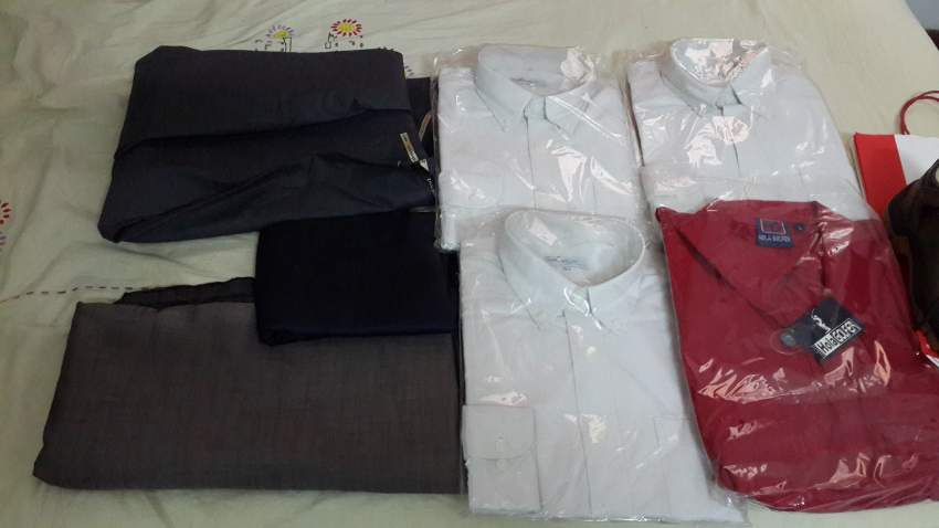 Shirts and cloth for pants, safety shoes