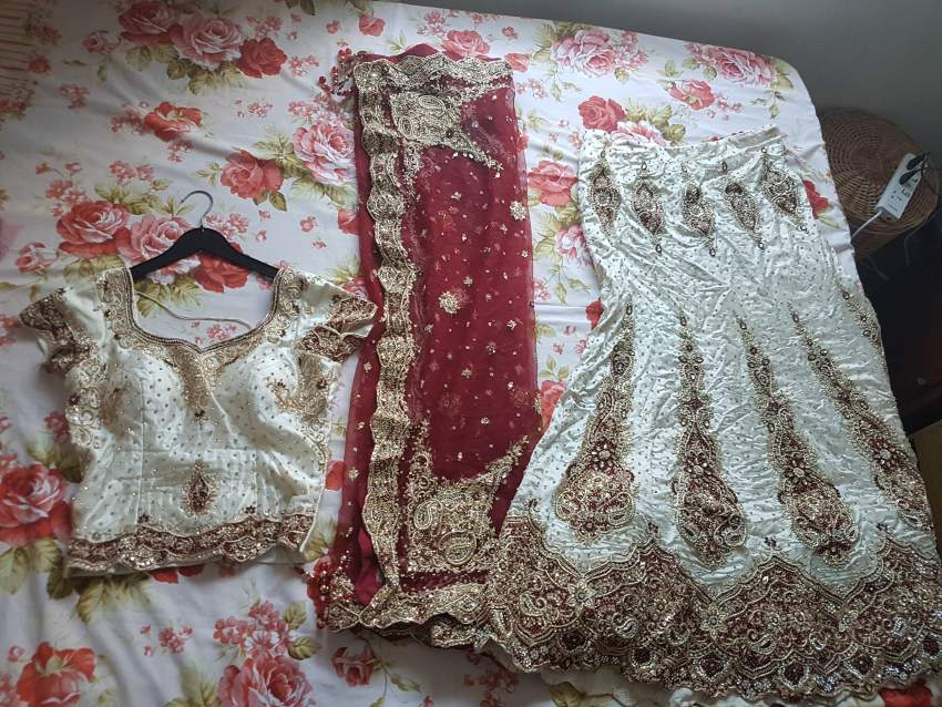 3piece wedding lehenga with intricate embroidery and matching jewellry - Wedding clothes at AsterVender