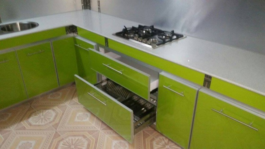 New aluminium kitchen furniture with accessories contact on 57567769 - Buffets & Sideboards at AsterVender