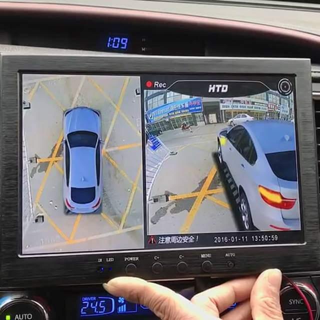 360 birdview waterproof car camera