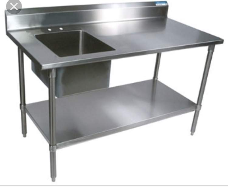 Single Bowl Single Drainer Sink Top Commercial  - Others at AsterVender