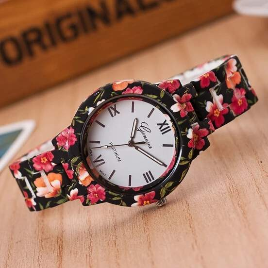 Women flower watch