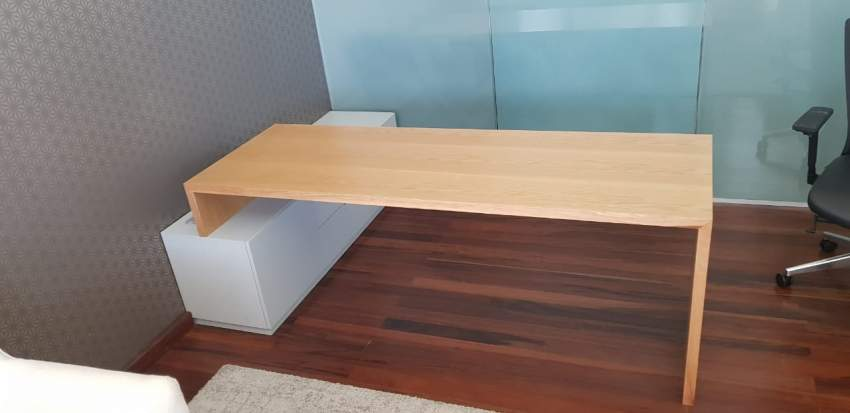 Office desk with storage. Modern design.