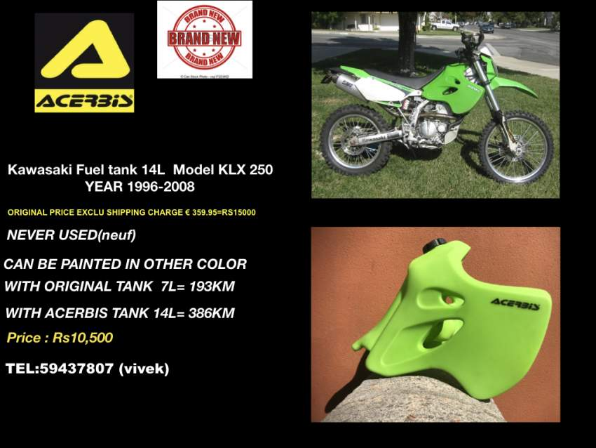 ACERBIS FUEL TANK FOR KAWASAKI KLX 250
