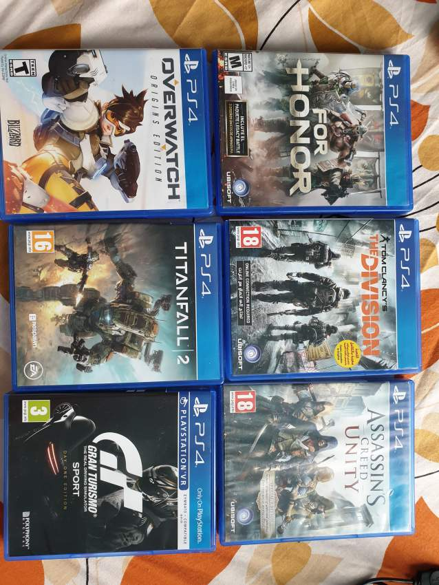 6 Ps4 games can be sold separately