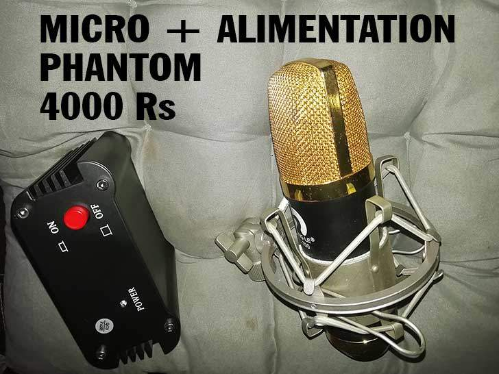 Micro Pro + Alimentation Phantom 48 Volt