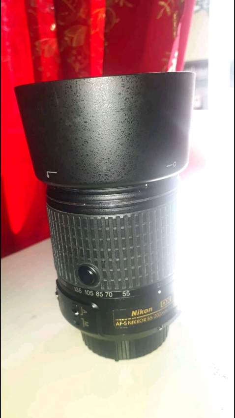 Nikon d7200 with lens 55 -200mm