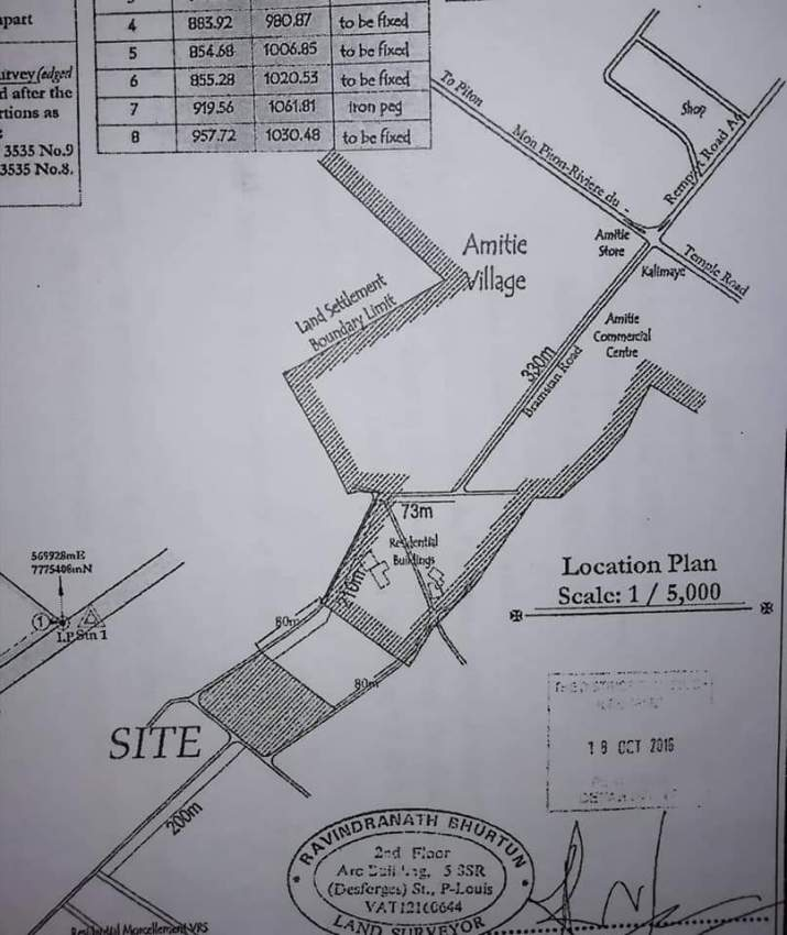 Residential plot for sale in Amitie, Riviere Du Rempart.
