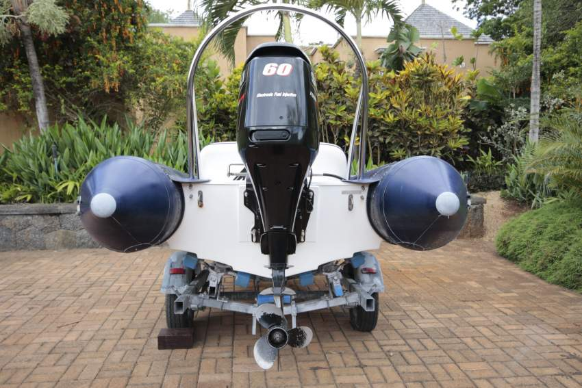 Avon 4.2m rigid inflatable with 60 HP Suzuki on professional trailer.  - Boats at AsterVender