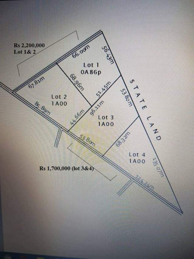 Four Agricultural plot of lands for sale in Ripailles.