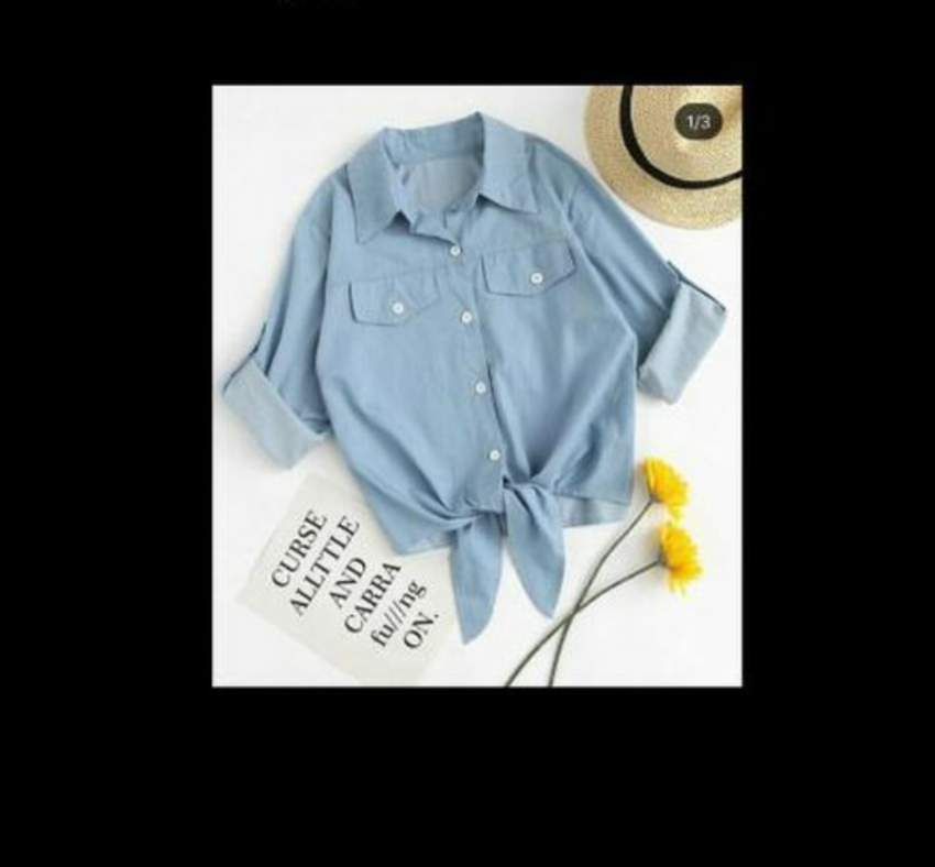 Denim shirt - Tops (Women) at AsterVender