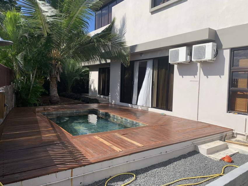 Tamarin,  detached villa furnished and equipped with 4 bedrooms ensuit