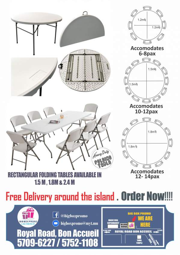 Folding Tables, Chairs, stools and Bencg - Table & chair sets at AsterVender