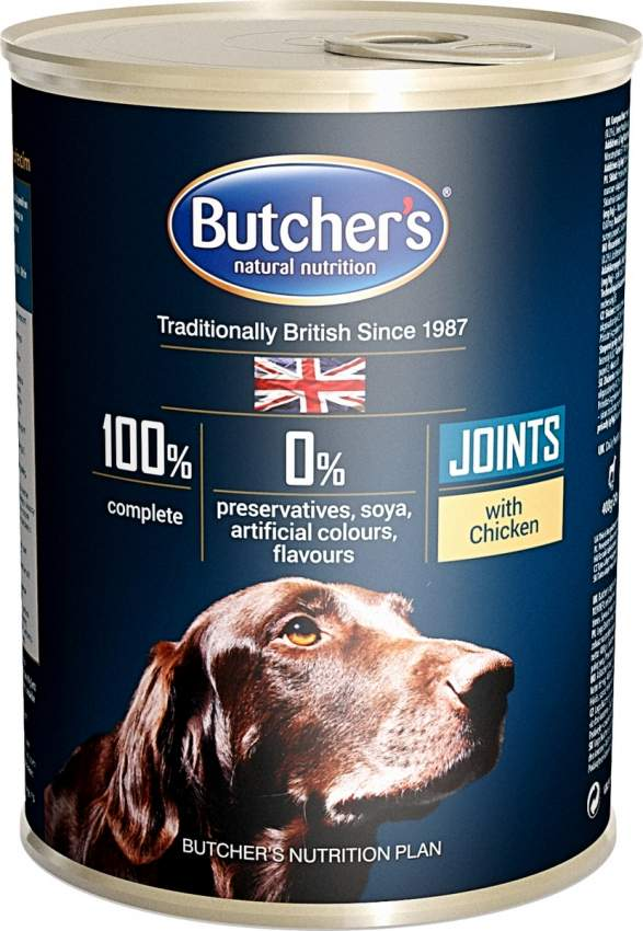 BUTCHER'S JOINTS WITH CHICKEN CHUNKS IN GRAVY 400G