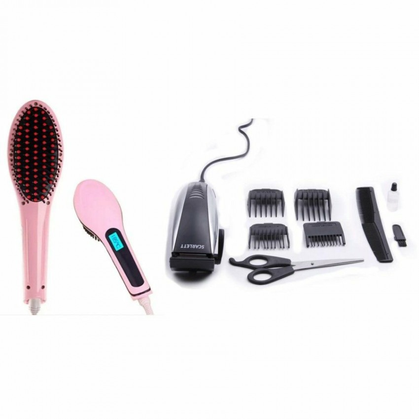 Set Straightener hair brush + set scarlet clipper hair. Immediate delivery! - Hair trimmers & clippers at AsterVender