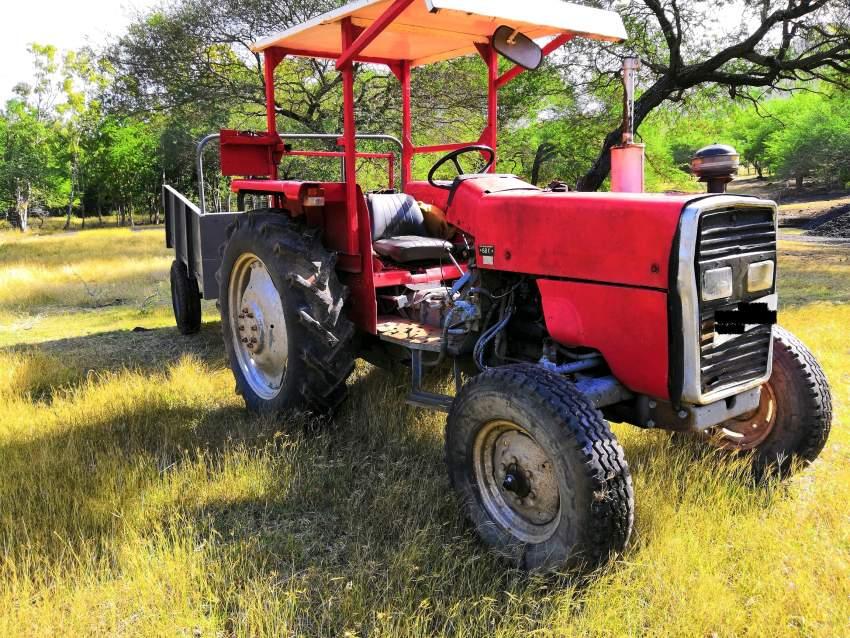 Tracteur Ferguson et remorque