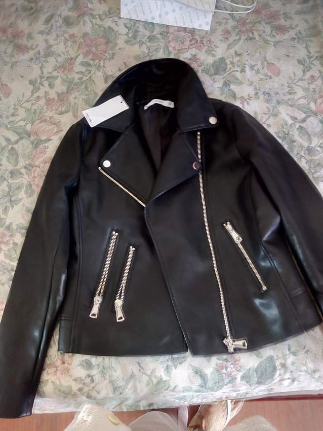 Blousin en cuir noir Taille M - Jackets & coats (Women) at AsterVender