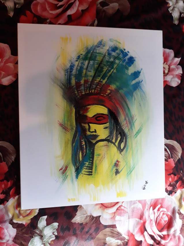 Redskin Indian woman - Paintings at AsterVender