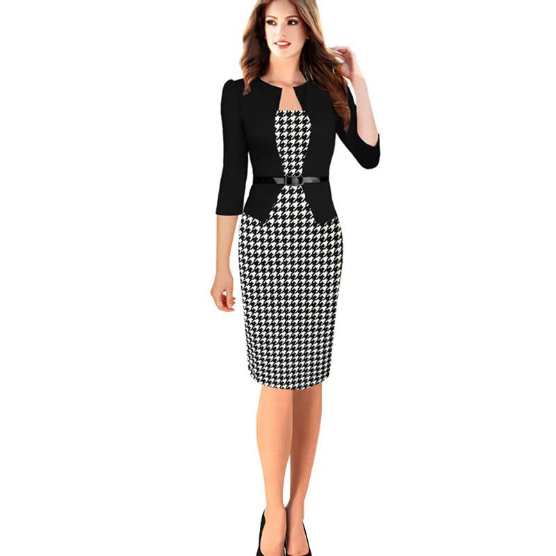 Elegant pencil dress office wear