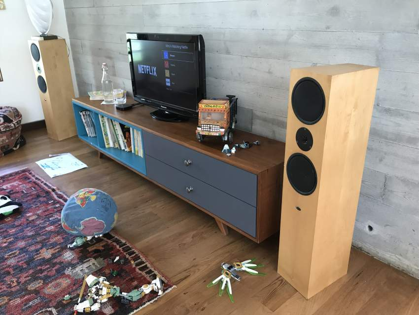 Speakers - Linn Ninka - cherry wood - stereo
