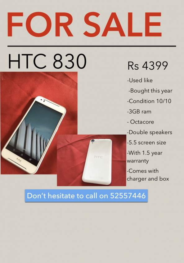 HTC 830 - Android Phones at AsterVender