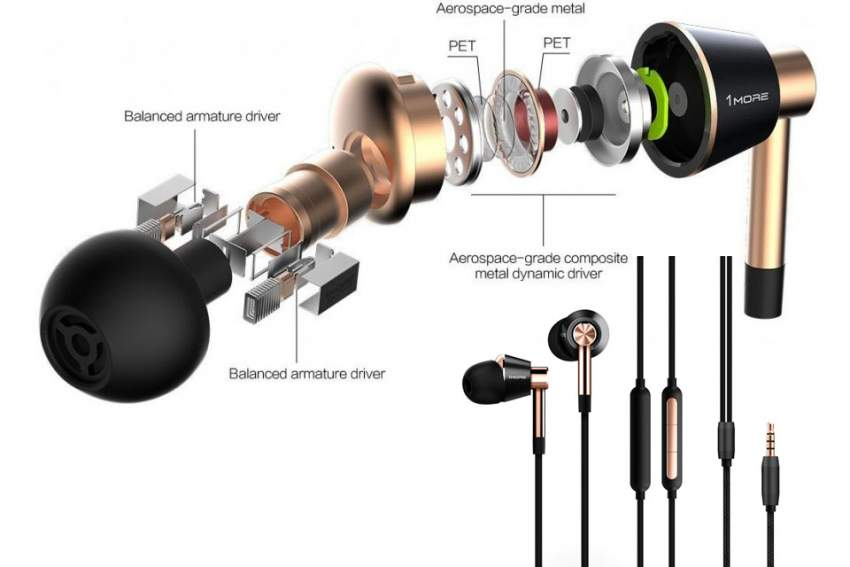 1 More Triple Driver In-Ear Earphones - All electronics products at AsterVender