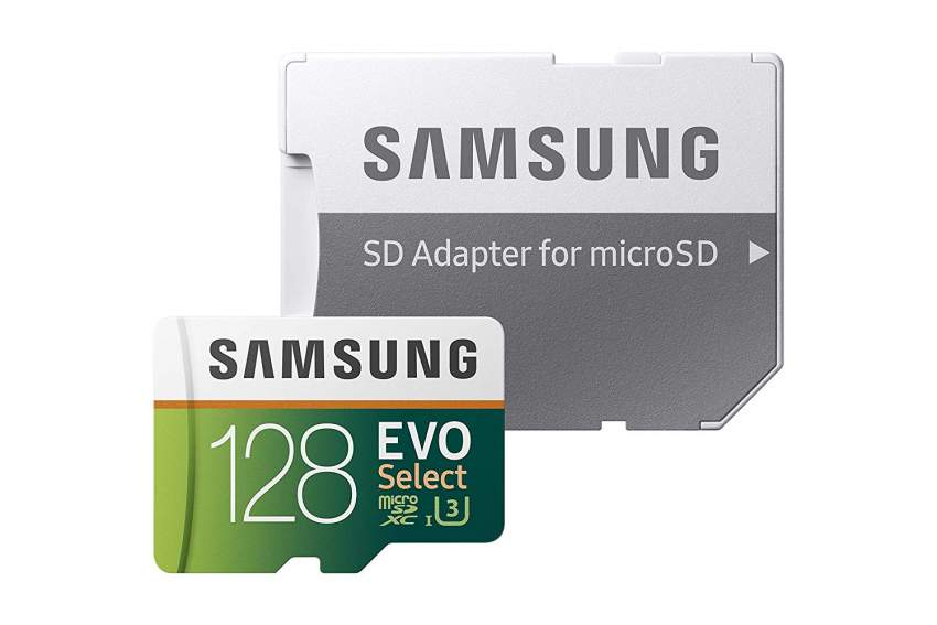 Samsung MicroSDXC EVO Select Memory Card w/ Adapter 128GB