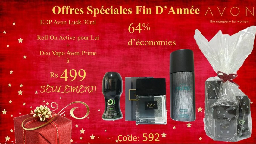 Avon Luck + Roll On + Deo BIG DISCOUNT - Perfume at AsterVender