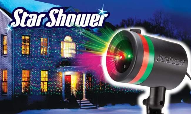 Star shower light decorations