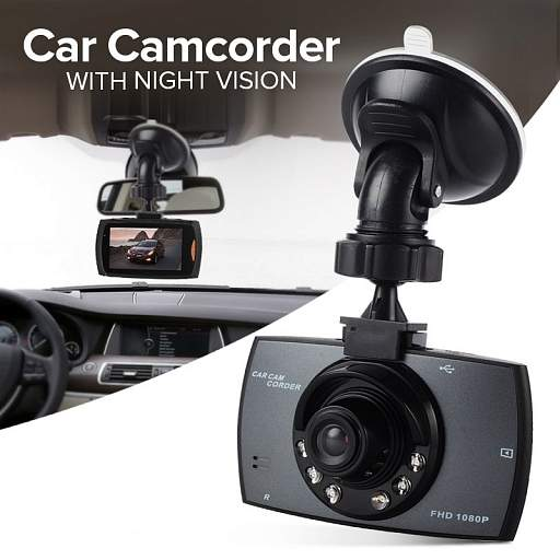 Car camorder with night vision