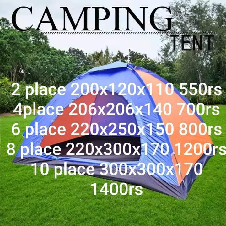 Camping tent various sizes