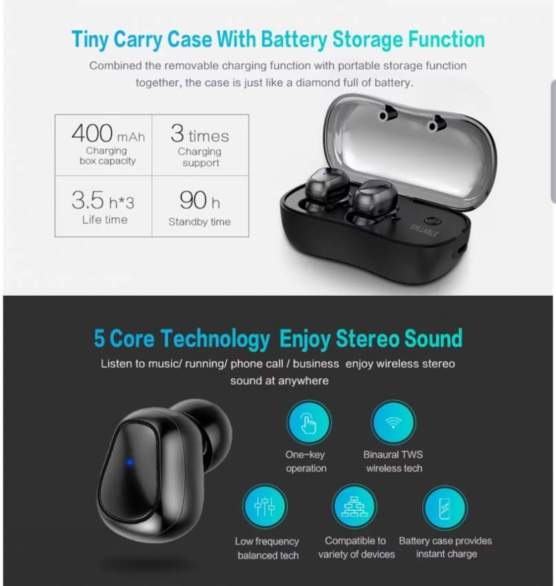 Wireless bluetooth earbuds - All Informatics Products at AsterVender