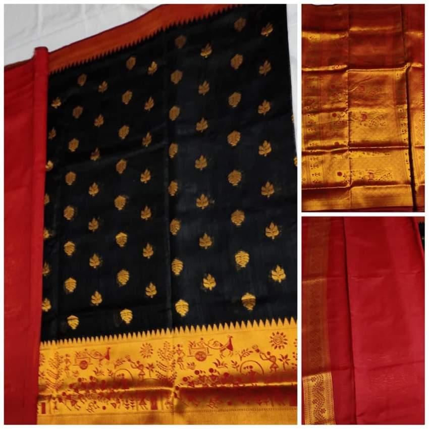 Silk Saree - Red and Black