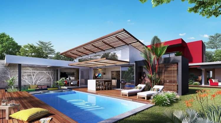 Tamarin villa de luxe au cœur d'une nouvelle ville en bord de rivière