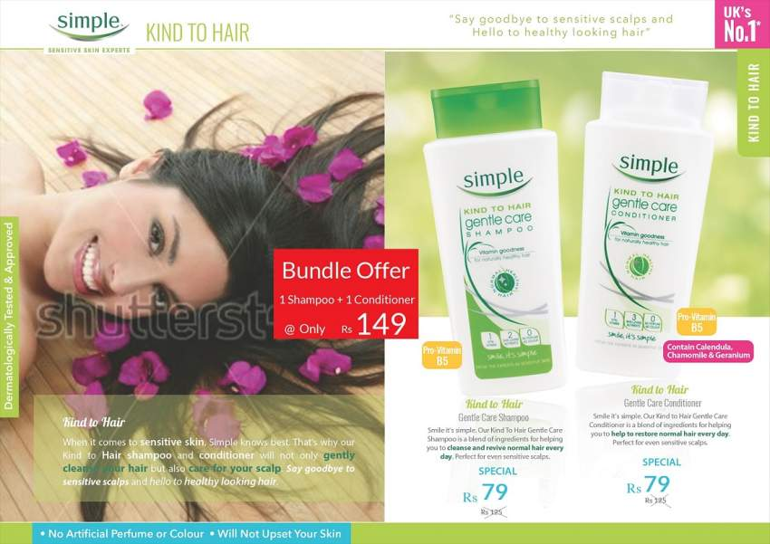 SALE SIMPLE SHAMPOO & CONDITIONER - No1 Brand in the UK