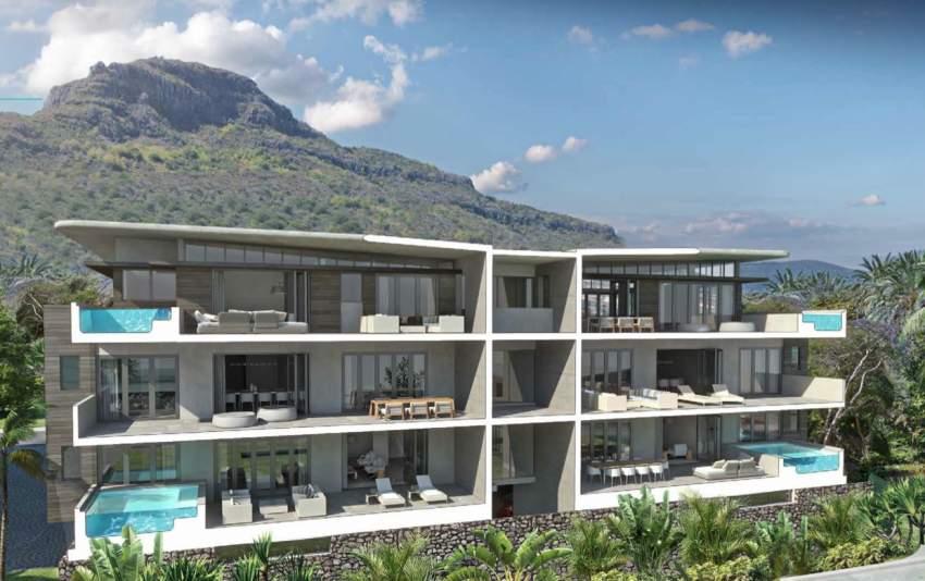 Rivière Noire splendide appartement face à la plage.