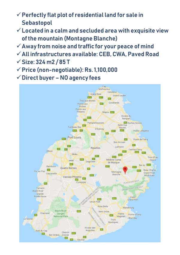 Residential Land for Sale - 324 m2 / 85 T