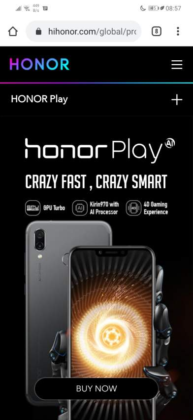 Honor play for sale or exchange with iphone 7 or 8