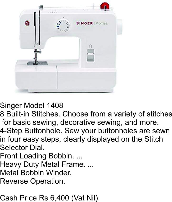 Sewing and Embroidery Machine - Singer 1408 - Sewing Machines at AsterVender