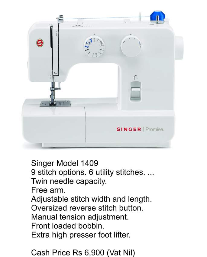 Sewing and Embroidery Machine - Singer 1409 - Sewing Machines at AsterVender