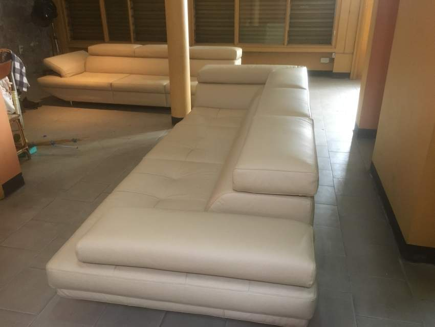 Leather 7seater sofa L Shape