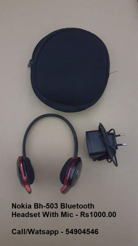 NOKIA BH-503 BLUETOOTH HEADSET WITH MIC + ACCS