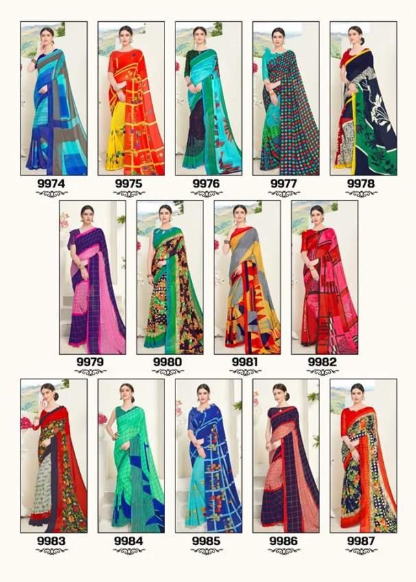 Georgette sarees. Unique designs. Rs 500 only.