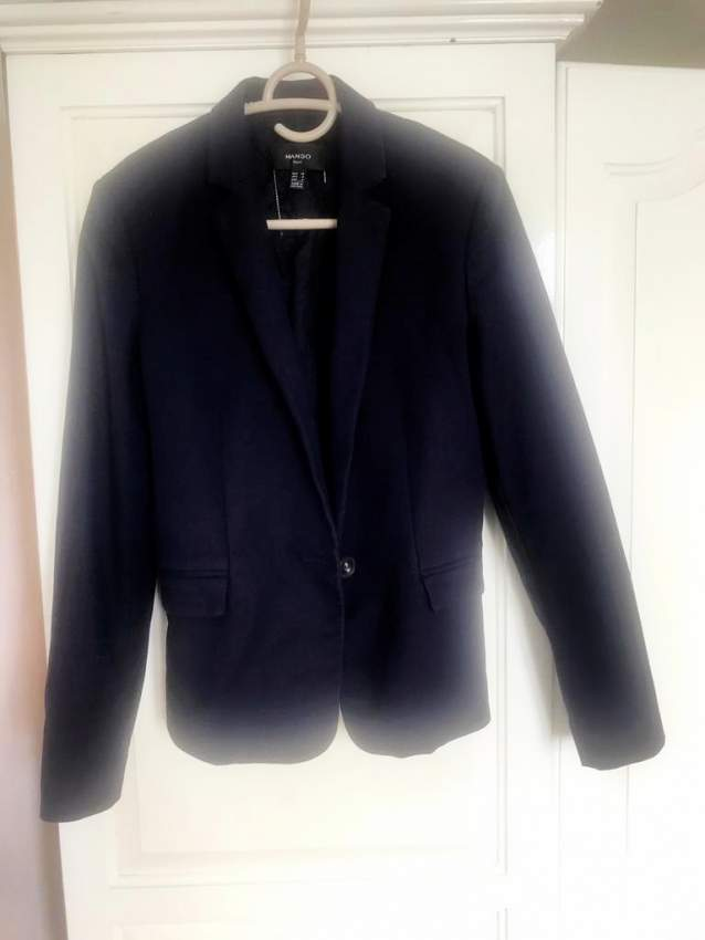 Blue women's coat - Original from Mango