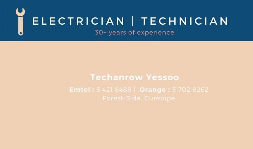 Electricien et technicien professionnel, sérieux, expérimenté