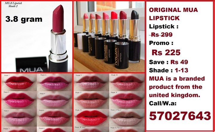 MUA LIPSTICKS  at AsterVender
